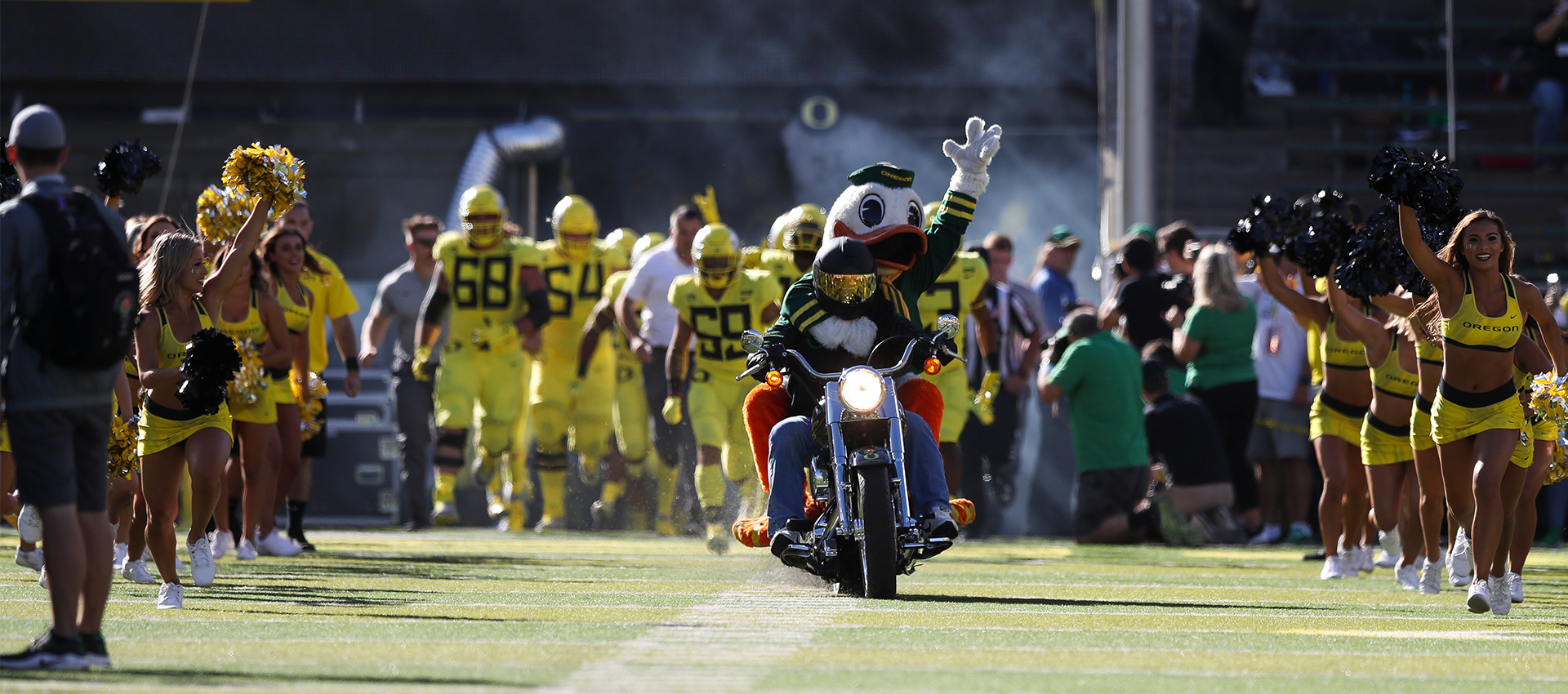 Oregon Duck on Motorcycle